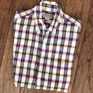 Men's JCrew Plaid Linen Shirt